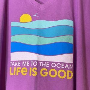 Life is Good Crusher Tee Take me to the Ocean